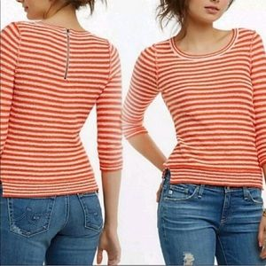 Anthro Monogram HWR Stripe Sweater XS M3777